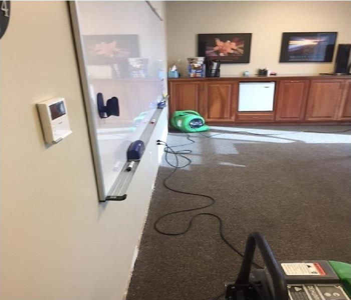 Flooded Office in Greenville, SC After