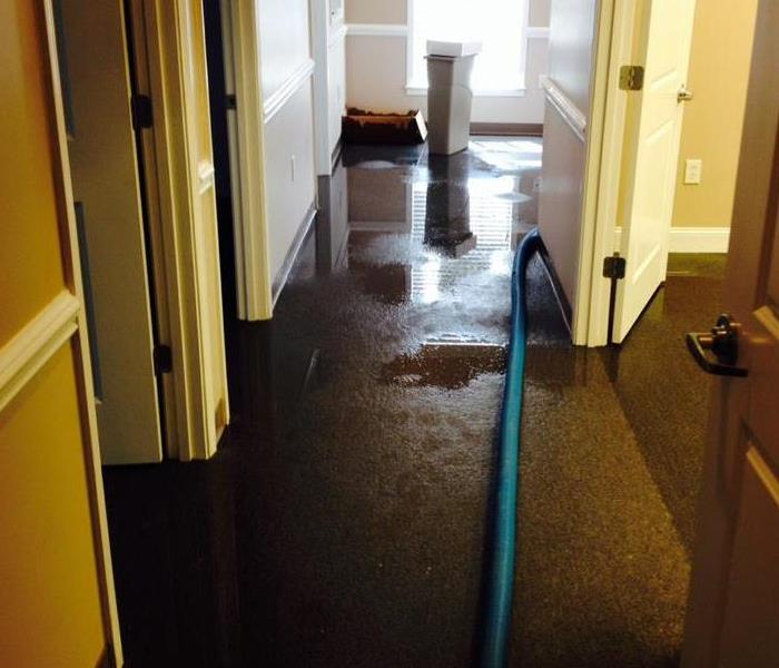 Water Damage restoration emergency in an Greenville, SC commercial business