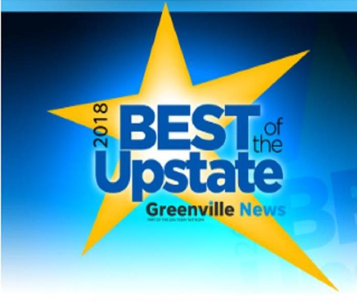 Commercial SERVPRO of East Greenville County Nominated for Best of the Upstate 2018