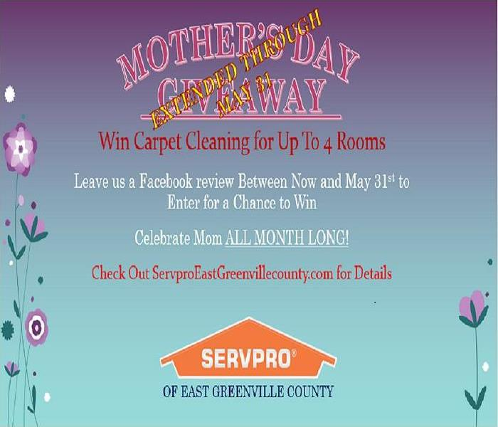 Commercial SERVPRO of East Greenville Celebrates Mom All Month Long
